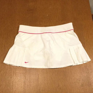 Womens Nike Tennis Dri Fit Pleated Skirt White